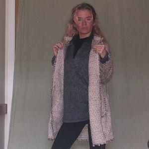 Pink vintage sparkly long coat